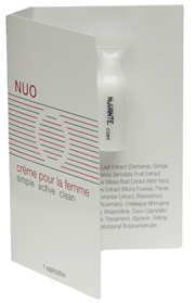 Improve your relationship and discover deeper, richer intimacy. The Single-Use Nuo, a female sexual enhancement cr�me, comes in a box with 14 single-use applications. Lightly massage contents on clitoris and surrounding area prior to intimacy. Continuous massage of product enhances desire and effectiveness. For optimal sexual health, use daily in addition to use during intimacy.